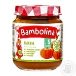 Puree Bambolina pumpkin for children from 5 months 100g glass jar