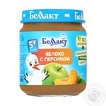 Puree Bellakt peach sterilized for children from 5 months 100g glass bottle