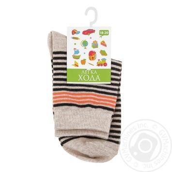 Legka Choda Beige Melange Children's Socks 18-20s