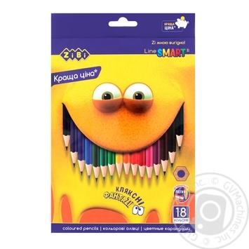 Олівці ZiBi кольорові 18 кольорів - купити, ціни на CітіМаркет - фото 1