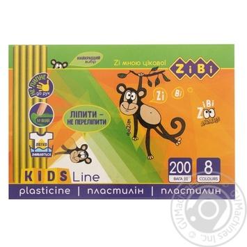 Пластилін ZiBi 8 кольорів 200г - купити, ціни на CітіМаркет - фото 1