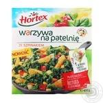 Суміш овочева Horteх зі шпинатом для смаження+саше зі спеціями швидкозаморожена 450г х14