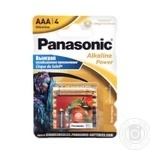 Батарейка Panasonic Alkaline Power AAA 4Sticker