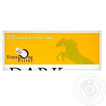 Гильзы для самокруток Dark Horse Extra Long 24мм 200шт - купить, цены на Novus - фото 1