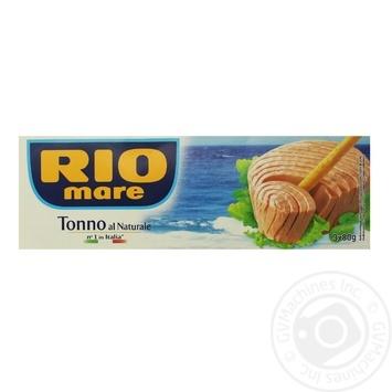 Тунець Rio Mare у власному соку 3х80г - купити, ціни на Novus - фото 1