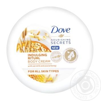 Крем для тіла Dove Вівсяне молочко та мед акації 250мл
