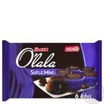 Кекс шоколадный Ulker O'lala Souffle мини с жидкой шоколадной начинкой 6шт 162г