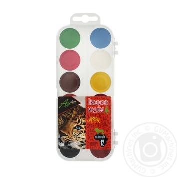Фарби Economix Africa акварельні медові 12 кольорів - купити, ціни на Novus - фото 1