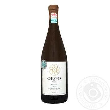 Orgo Rkatsiteli orange dry wine 13% 0,75l - buy, prices for Novus - image 1