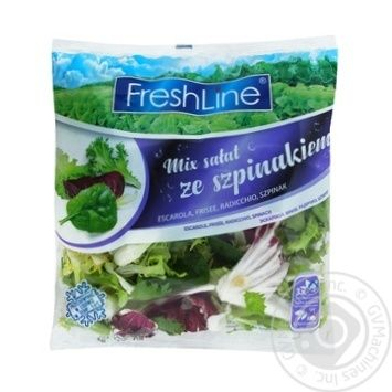 Freshline Mix Salad With Spinach 120g - buy, prices for Auchan - photo 1