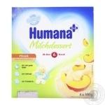 Продукт кисломолочный Хумана с персиком и натуральными пребиотиками для детей с 6 месяцев 2.8% 4х100г