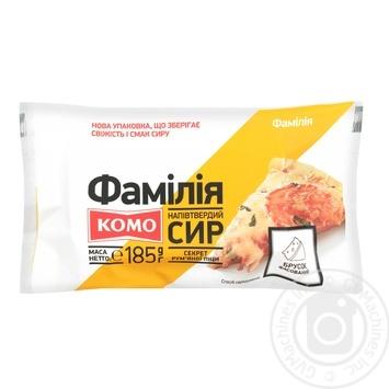 Сир Комо Фамілія напівтвердий 30% 185г - купити, ціни на Ашан - фото 2