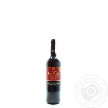 Вино Castillo San Simon Jumilla красное сухое 12,5% 0,75л - купить, цены на МегаМаркет - фото 1