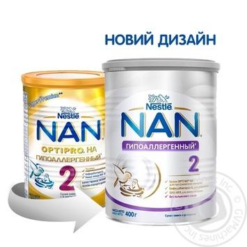Смесь молочная Нестле Нан 2 Гипоаллергенный сухая для детей с 6 месяцев 400г - купить, цены на Метро - фото 4