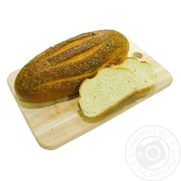 Bread with Butter and Sesame Seeds
