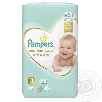 Пiдгузники Pampers Premium 3 Midi 5-9кг 60шт - купити, ціни на Фуршет - фото 2