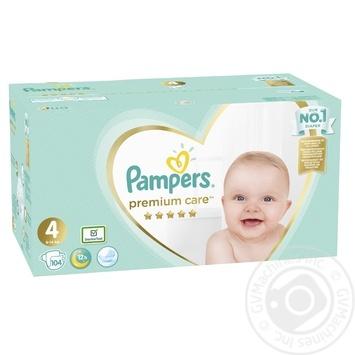 Подгузники Pampers Premium Care 4, 9-14кг 104шт - купить, цены на Novus - фото 2