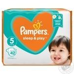 Подгузники Pampers Slip & Play Junior 5 11-16кг 42шт - купить, цены на Фуршет - фото 2
