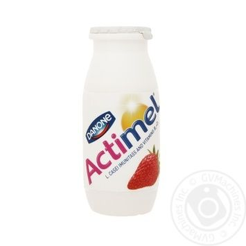 Danone Actimel With Strawberries Yogurt