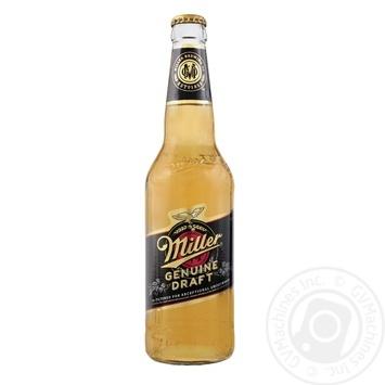 Пиво Miller Genuine Draft світле 4,7% 0,45л - купити, ціни на Фуршет - фото 1