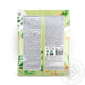 Сухарики Флинт Сметана и зелень 110г - купить, цены на Фуршет - фото 2