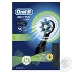 Oral-B Pro 750 CrossAction electric toothbrush with case