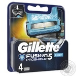 Gillette Fusion ProShield Chill replaceable shaveing cartridges 4pcs - buy, prices for Novus - image 2