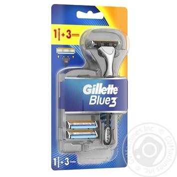 Бритва Gillette Blue3 с 3 сменными касетами - купить, цены на Novus - фото 3