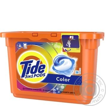 Tide Pods 3in1 Color Washing Capsules 15pcs 24,8g - buy, prices for Auchan - photo 2