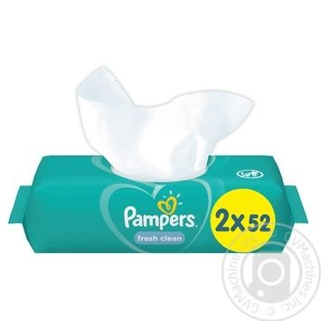 Pampers Fresh Clean Wipes 2х52pcs - buy, prices for CityMarket - photo 4