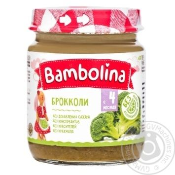 Пюре Bambolina брокколи 100г - купить, цены на Фуршет - фото 1