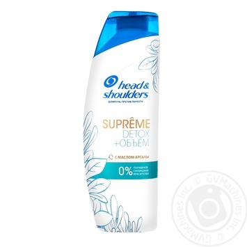Head & Shouldes Supreme Detox+Volume Anti-Dandruff Shampoo with Argan Oil 300ml - buy, prices for Tavria V - image 1