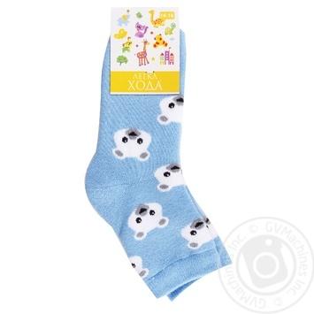 Шкарпетки дитячі 9236 14-16 блакитний