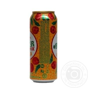 Пиво Оболонь Beermix Вишня специальное светлое 0,5л ж/б - купить, цены на Novus - фото 3