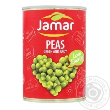 Горошек зеленый консервированный Jamar 400г - купить, цены на Фуршет - фото 1