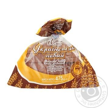 Хліб Кулиничі Український новий половинка нарізка 475г Україна - купити, ціни на Novus - фото 1