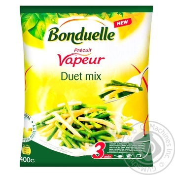 Bonduelle Duet mix frozen green and yellow string beans 400g - buy, prices for MegaMarket - image 1