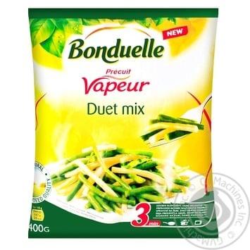 Смесь овощная Bonduelle Дуэт зеленой и желтой стручковой фасоли на пару замороженная 400г - купить, цены на МегаМаркет - фото 1