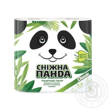 Папір туалетний Сніжна панда 4шт - купити, ціни на Novus - фото 1