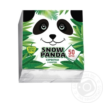 Snow Panda Single-Layer Napkins 24cm*50pc - buy, prices for Novus - image 1
