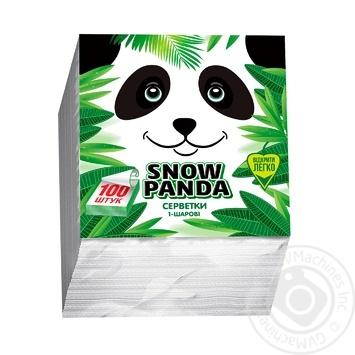 Snow Panda Single-Layer Napkins 24cm*100pc - buy, prices for Tavria V - image 1