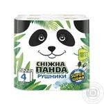 Полотенца бумажные Снежная панда 4шт