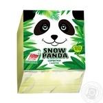 Салфетки Сніжна панда 1слой желтые 24х24см 100шт/уп - купить, цены на МегаМаркет - фото 1