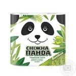Папір туалетний Сніжна панда Бамбук 4шт