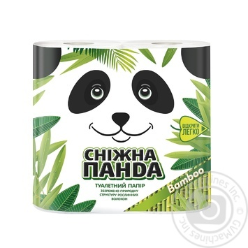Snow Panda Bamboo Toilet Paper 4pcs - buy, prices for Novus - image 1