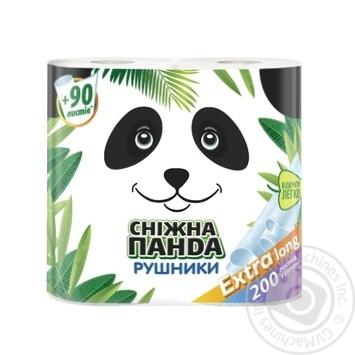 Полотенца бумажные Сніжна панда Extra Long 2шт/уп - купить, цены на Novus - фото 1