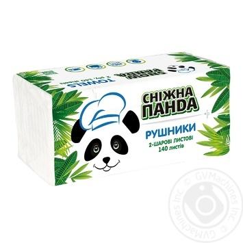 Полотенца бумажные Сніжна Панда двухслойные 140шт - купить, цены на Novus - фото 4