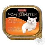 Корм Animonda Vom Feinsten Adult Птица-говядина влажный для кошек 100г