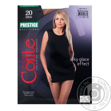 Колготы Conte Prestige 20 Den р.3 natur шт - купить, цены на Novus - фото 1