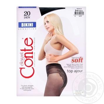 Колготы Conte Bikini 20 Den р.3 nero шт - купить, цены на Novus - фото 1